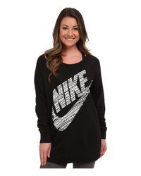 Nike | Black Rally Bf Logo Crew | Lyst