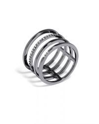 BaubleBar - Metallic Ice Quad Ring - Lyst