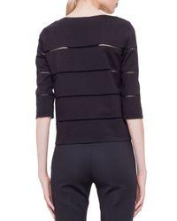 Akris Punto - Black Hemstitch Boxy Jersey Sweater - Lyst