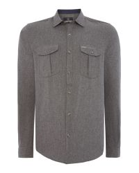 Duck and Cover | Gray Royde Long Sleeve Shirt for Men | Lyst