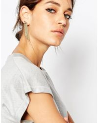 ASOS | Metallic Fine Hanging Chains Ear Crawler | Lyst