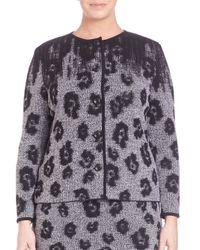 Stizzoli - Black Animal-print Cardigan-jacket - Lyst