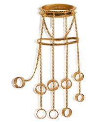 Eddie Borgo | Metallic Jacket Hand Piece - Gold | Lyst