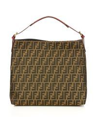 Fendi - Brown Large Zucca Canvas Hobo Bag - Lyst