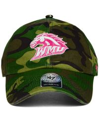 47 Brand - Green Western Michigan Broncos Fashion Clean Up Cap for Men - Lyst
