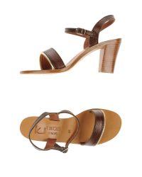 K. Jacques - Brown Sandals - Lyst