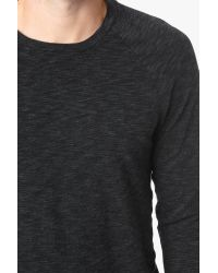 7 For All Mankind - Gray Long Sleeve Crewneck In Charcoal for Men - Lyst