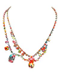 Tom Binns - Multicolor Riot Of Colour Asymetrical Necklace - Lyst