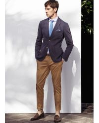 Mango | Brown Slim Fit Premium Cotton Chinos for Men | Lyst