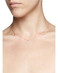 Khai Khai - Metallic 'eye Luv U' Diamond Pendant Necklace - Lyst