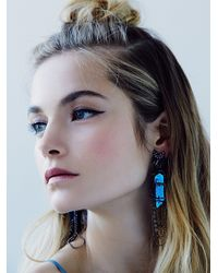 Free People | Blue Deepa Gurnani Womens Ashlyn Statement Dangle Earring | Lyst