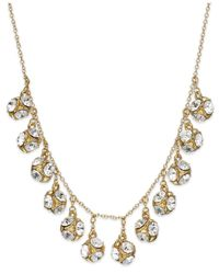 Kate Spade | Metallic New York Goldtone Crystal Ball Collar Necklace | Lyst