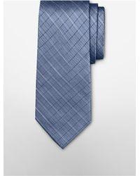 Calvin Klein | Blue Steel Etched Windowpane Tie for Men | Lyst