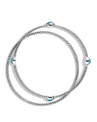 David Yurman - Color Classics Bangles With Blue Topaz - Lyst