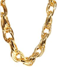 ASOS | Metallic Limited Edition Twist Chain Choker Necklace | Lyst