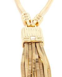 Lanvin - Metallic Tassel Necklace - Lyst
