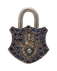 Sevan Biçakci - Metallic Gemstone Hamsa Padlock Charm - Lyst