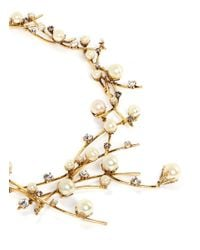 Erickson Beamon - Metallic 'stratosphere' Pearl Crystal Branch Collar Necklace - Lyst