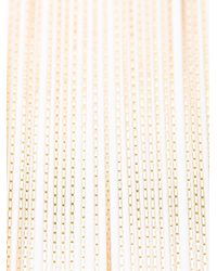 Balmain - Metallic Long Fringed Necklace - Lyst