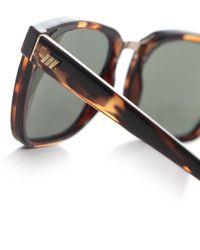 Le Specs - Brown No Mistakes Tortoiseshell Sunglasses - Lyst