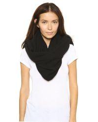 White + Warren - Black Cashmere Two Way Angled Poncho - Fog Heather - Lyst
