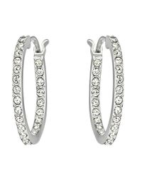Swarovski | Metallic Somerset Rhodium-Plated Hoop Earrings | Lyst
