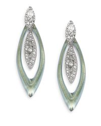 Alexis Bittar | Metallic Deco Lucite & Crystal Orbit Double-marquis Earrings | Lyst