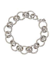 Armenta - Metallic Champagne Diamond Circle Link Bracelet - Lyst