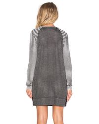 Sundry - Natural Striped Raglan Dress - Lyst