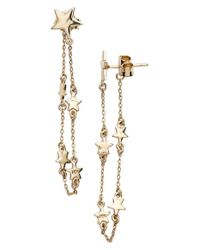 Melinda Maria | Metallic 'stair Chain' Drop Chain Earrings | Lyst