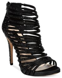 INC International Concepts | Black Rowell Rhinestone Platform Sandals | Lyst