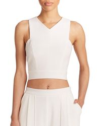 ABS By Allen Schwartz | White Cross-back Crop Top | Lyst