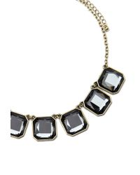 Forever 21 - Gray Layered Faux Gemstone Necklace - Lyst