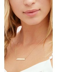 Forever 21 - Metallic Adorn512 Initial L Bar Necklace - Lyst