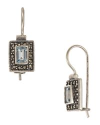 Lord & Taylor | Metallic Square Stone Earrings | Lyst