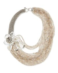 Alexis Bittar | Gray Jardin Mystere Corsage Torsade Necklace | Lyst