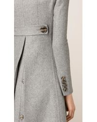 Burberry - Gray Tailored Double-breasted Cashmere Coat - Lyst