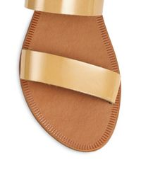 Joie Natural Sable Patent Leather Sandals