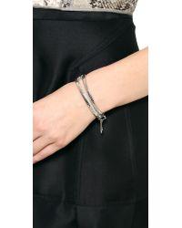 Eddie Borgo - Metallic Zip Bracelet Silver - Lyst