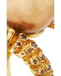 VBH - Metallic Gold Tahitian Pearl Vertebrae Ring - Lyst