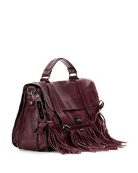 Proenza Schouler - Purple Ps1 Medium Fringed Leather Shoulder Bag - Lyst