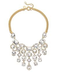 Lauren by Ralph Lauren - Metallic Signature Collection Gold-Tone Swarovski Crystal Bib Necklace - Lyst