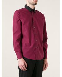 Lanvin - Purple Micro Dot Shirt for Men - Lyst