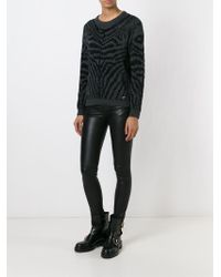 DIESEL - Black 'm-crepes-a' Sweater - Lyst