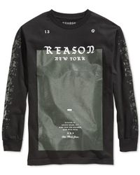 Reason | Black Men's Logo T-shirt for Men | Lyst
