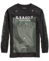 Reason - Black Men's Logo T-shirt for Men - Lyst