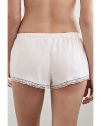 Forever 21 - Pink Lacy Pintucked Pj Shorts You've Been Added To The Waitlist - Lyst