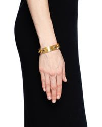 Ela Stone | Metallic 'heidi' Metal Plate Curb Chain Bracelet | Lyst
