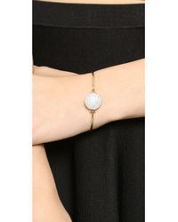 Michael Kors - Metallic Top Tension Bangle Bracelet - Gold/Clear - Lyst
