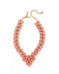 Oscar de la Renta - Metallic Opaque Navette Necklace - Lyst